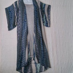 One Clothing Long Boho Kimono Cover Up Sz Small